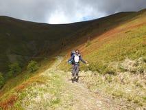 Trekking in the mountains Royalty Free Stock Photos