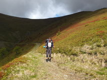 Trekking in the mountains Royalty Free Stock Image