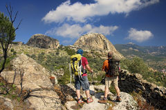 Trekking in mountains of Mugla Royalty Free Stock Image