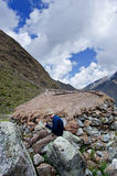 Trekking in mountains, Peru, South America Stock Photography