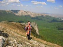 Trekking in the mountains Stock Photo