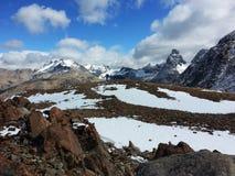 Trekking na ?rea de Cerro Castillo imagem de stock