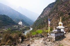 Trekking na região de Everest Imagem de Stock Royalty Free