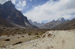 Trekking nella regione di Everest Immagine Stock