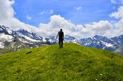 Trekking nelle alpi della Francia Immagini Stock Libere da Diritti