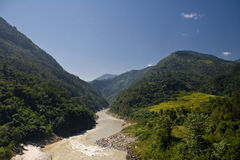 Trekking in Nepal Royalty Free Stock Photography