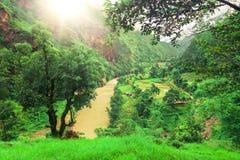 Trekking in Nepal stock afbeelding