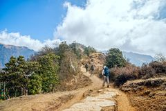 Trekking in Nepal Stockbilder