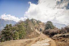 Trekking in Nepal lizenzfreie stockfotos