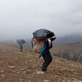 Trekking in the Nepal Himalaya Stock Images