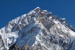 Mount Nuptse view from Everest Base Camp, Nepal. Trekking in the Nepal Himalaya - Mount Nuptse view from Everest Base Camp, Sagarmatha National Park Stock Photography