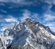 Mount Nuptse view from Everest Base Camp, Nepal Himalayas. Trekking in the Nepal Himalaya - Mount Nuptse view from Everest Base Camp, Sagarmatha National Park Stock Photography