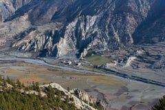 Trekking in Nepal Himalayagebergte Royalty-vrije Stock Afbeeldingen