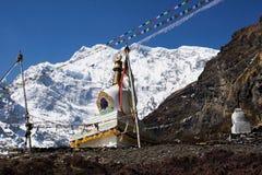 Trekking in Nepal Himalayagebergte Stock Afbeeldingen