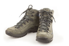 Trekking new shoes isolated on white Stock Image