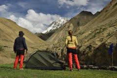 Trekking no Ladakh imagem de stock
