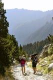 Trekking no parque nacional nos Pyrenees Fotos de Stock Royalty Free