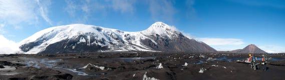 Trekking op Kamchatka Stock Foto's