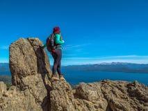 Trekking in Patagonië Royalty-vrije Stock Afbeelding