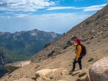 Trekking in Patagonië stock foto