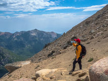 Trekking in Patagonia Stock Photo
