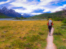 Trekking in Patagonia Royalty Free Stock Photos