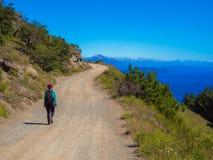 Trekking in Patagonia Stock Image