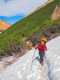 Trekking in Patagonia Royalty Free Stock Image