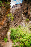 Trekking path in famous canyon Masca in Tenerife Royalty Free Stock Photos