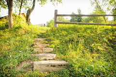 Trekking path in the mountain. Royalty Free Stock Photography