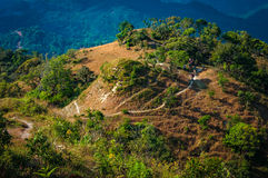 Trekking path on the mountain in national park Tak, Thailand Royalty Free Stock Images