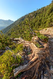 Trekking path in mountains. Greece Royalty Free Stock Photography