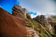 Trekking path at the Pico do Arieiro Stock Image