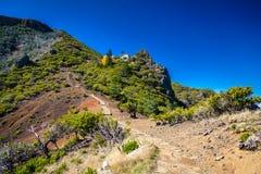 Trekking path to the top of Pico Ruivo. Trekking path to the top of the highest mountain of Madeira - Pico Ruivo, Portugal Stock Photography