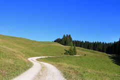 A trekking pathway in Tirol, Austria - Europe Royalty Free Stock Photos