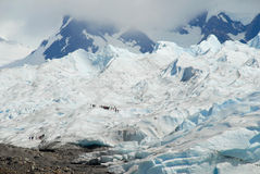 Trekking on the Perito Moreno glacier, Argentina. Royalty Free Stock Photo