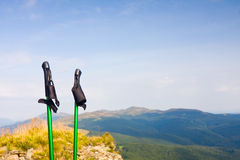 Trekking pole Stock Images