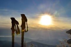 Trekking poler Royaltyfri Fotografi