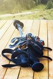 Trekking poles Stock Images