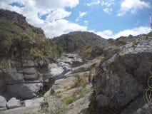 Trekking Quebrada Yatan от Cumbrecita, rdoba ³ CÃ, Аргентина Стоковая Фотография