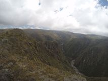 Trekking Quebrada Yatan od Cumbrecita, CÃ ³ rdoba, Argentyna obraz royalty free