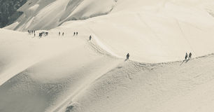 Trekking  and recreation in  the  Alps mountains Royalty Free Stock Photo