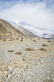 Trekking road in Himalaya Royalty Free Stock Image