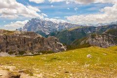 Trekking rond de Drie Pieken, Italiaanse Alpen Royalty-vrije Stock Foto