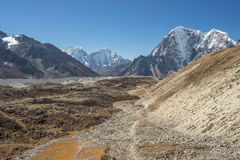 Trekking route to Everest base camp Stock Image