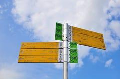Trekking routes Stock Image
