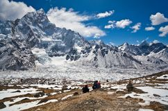 Trekking in Sagarmatha national park, Nepal Stock Photo