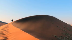 Trekking a sand dune Stock Photography