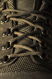 Trekking shoe laces  Stock Photo