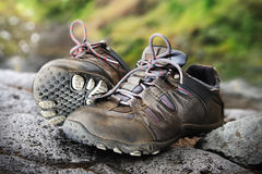 Trekking shoes Royalty Free Stock Photo
